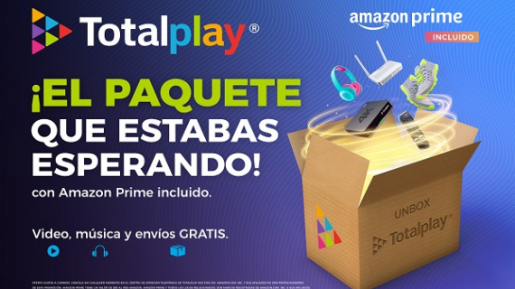 Totalplay presenta sus nuevos paquetes Amazon Prime
