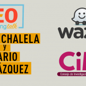 Ivette Chalela, Directora de marketing de Waze Latinoamérica y Mario Velázquez del CIM en Neo Marketing Talk