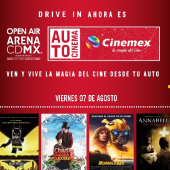 Abre su telón  Autocinema Cinemex y Open Air Mx